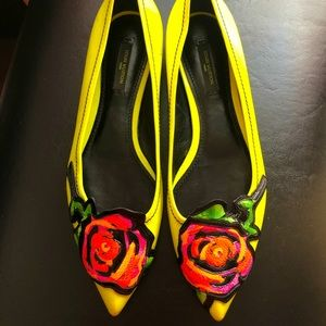 AUTHENTIC LOUIS VUITTON FLOWER EMBELLISHED FLATS